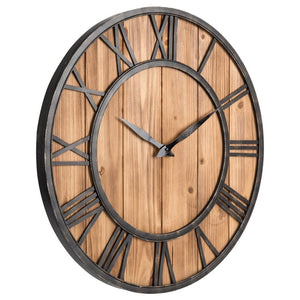 Creative Round Silent Wooden Wall Clock
