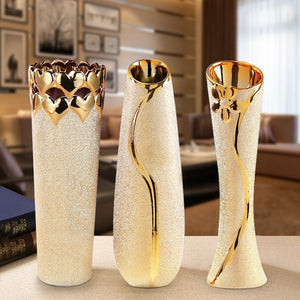 Natural Elements Contemporary Living Golden Flower Vase
