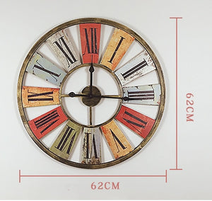 Retro Iron Decorative Large Wall Clock