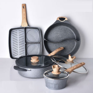 Natural Elements Non-Stick Wood Stone Chef Set