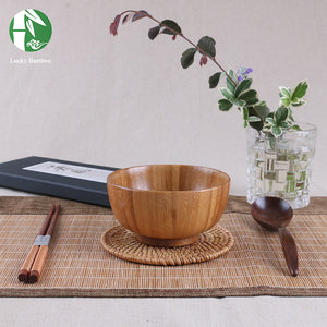 Large Soup Bowls Jujube Wood Handmade Healthy Safe Food Containers
