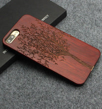Genuine Wood Carved Phone Case for iPhone 7 8 Plus & iPhone X