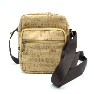 Natural Elements Men cork Crossbody Messenger Bag