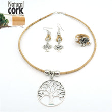Natural Elements Cork Tree Of Life Vegan Jewelry Set