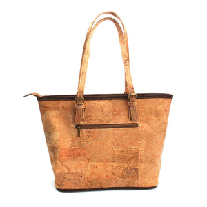 LaToya Renee' Natural Elements Cork Handmade Luxury with Brown Tassel Handbag