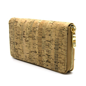 Natural Elements Cork Zipper Wallet with Money Clips