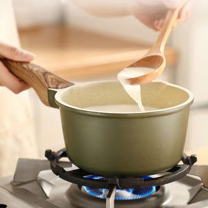 Natural Elements Multi Functional Non-stick Saucepan with Wooden Handle