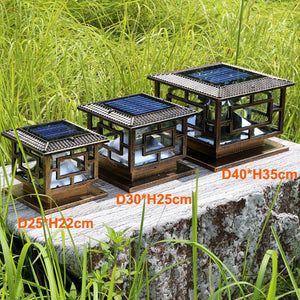 Natural Elements Solar Pillar Lamp Outdoor Super Bright LED 1pc