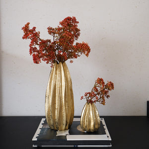 Natural Elements Golden Nugget Ceramic Vase
