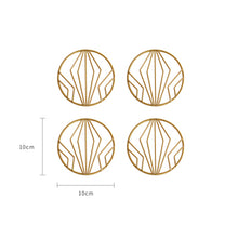 Nordic Gold Iron Pot Coasters Cup Placemats
