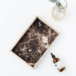 Natural Elements Nordic Style Coffee Color Natural Marble Tray