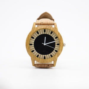Piano Cork Strap Unisex Watch with Gift Box