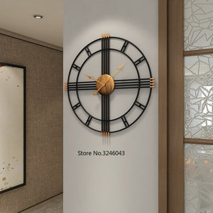 European Style Wrought Iron Personality Wall Clock