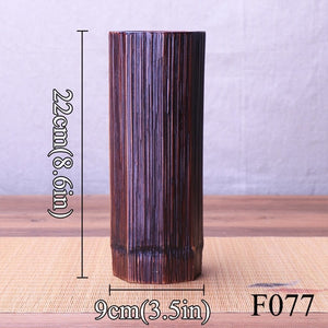 Natural Elements Bamboo Vase Flower Pots