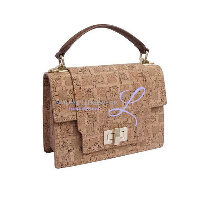 Anna Luxury Handmade Natural Cork Vintage Metal Buckle Shoulder Bag Handbags