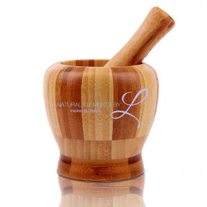 Bamboo Kitchen Mortar And Pestle Set Diy