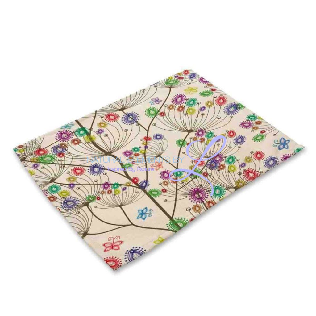 Beautiful Flower Pattern Table Mats Mp00311 Place
