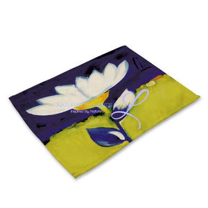 Beautiful Flower Pattern Table Mats Mp003112 Place