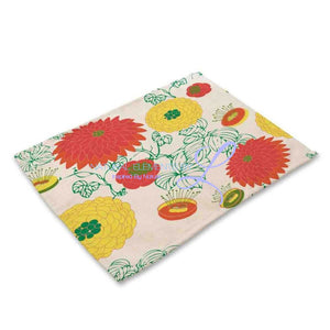 Beautiful Flower Pattern Table Mats Mp00312 Place