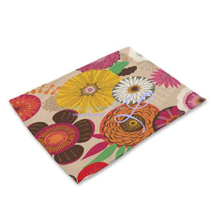 Beautiful Flower Pattern Table Mats Mp00313 Place