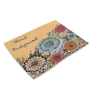 Beautiful Flower Pattern Table Mats Mp00315 Place