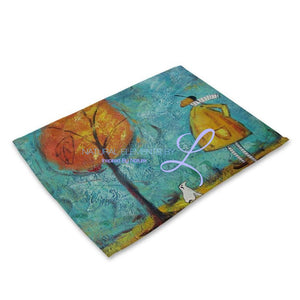 Beautiful Flower Pattern Table Mats Mp00317 Place