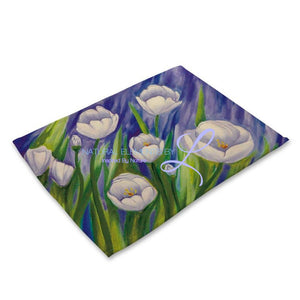Beautiful Flower Pattern Table Mats Mp00318 Place