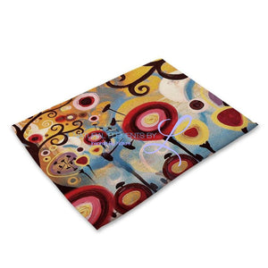 Beautiful Flower Pattern Table Mats Mp00319 Place