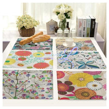Beautiful Flower Pattern Table Mats Place