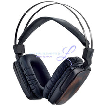 Boss Hifi All Natural Wood Dynamic Metal Headphones Ebony Headset