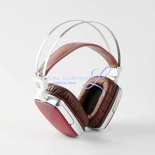 Boss Hifi All Natural Wood Dynamic Metal Headphones Rosewood Headset