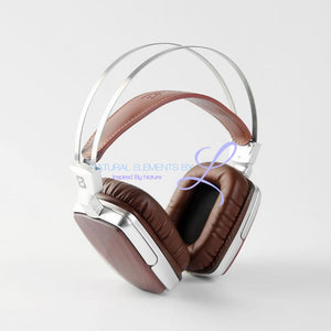 Boss Hifi All Natural Wood Dynamic Metal Headphones Walnut Headset