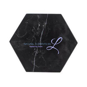 Chic Green Marble Pattern Ceramic Drink Coasters Black