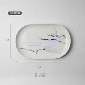 Creative Design European Style Marble Pattern Ceramic Tableware Porcelain Plate Dish Platter Bowl Cutter Board Dinnerware Set Clear Plates