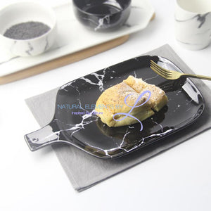 Creative Design European Style Marble Pattern Ceramic Tableware Porcelain Plate Dish Platter Bowl Cutter Board Dinnerware Set Plates