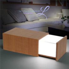 Desk Lamp Light-Fixture W/ Bluetooth Speaker Wooden Color