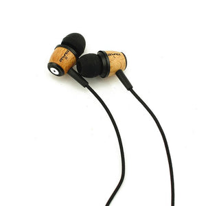 Earphones - AWEI Q9 Super Bass Wooden In-Ear Earphones
