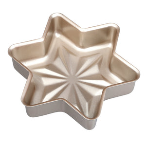 Elements Non-Stick Snowflake Cake Bun Baking Pan Cookware