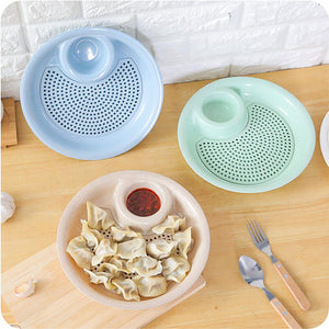 Food Fruit Storage Box Double Layer Drain Dumplings Dish Wheat Straw Color Kitchen Home Snacks Seeds Storage Box Holder 2018