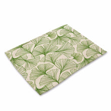 Green Leaves Pattern Table Mats