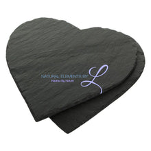 Heart Shape Natural Slate Solid Plate