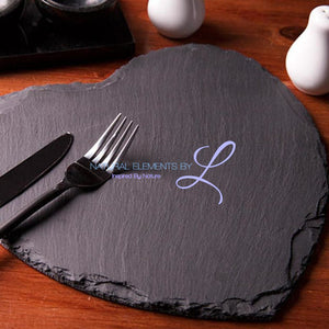 Heart Shape Natural Slate Solid Plate Show As Picture / 10X10Cm