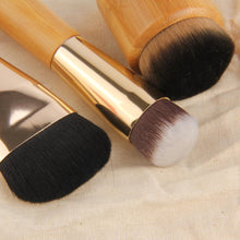 High Quality 3Pcs/Set Bamboo Handle Foundation Powder Bronzer Concealer Makeup Brushes