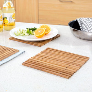 Hollow Bamboo Coaster Heat Insulation Anti Scald Placemat