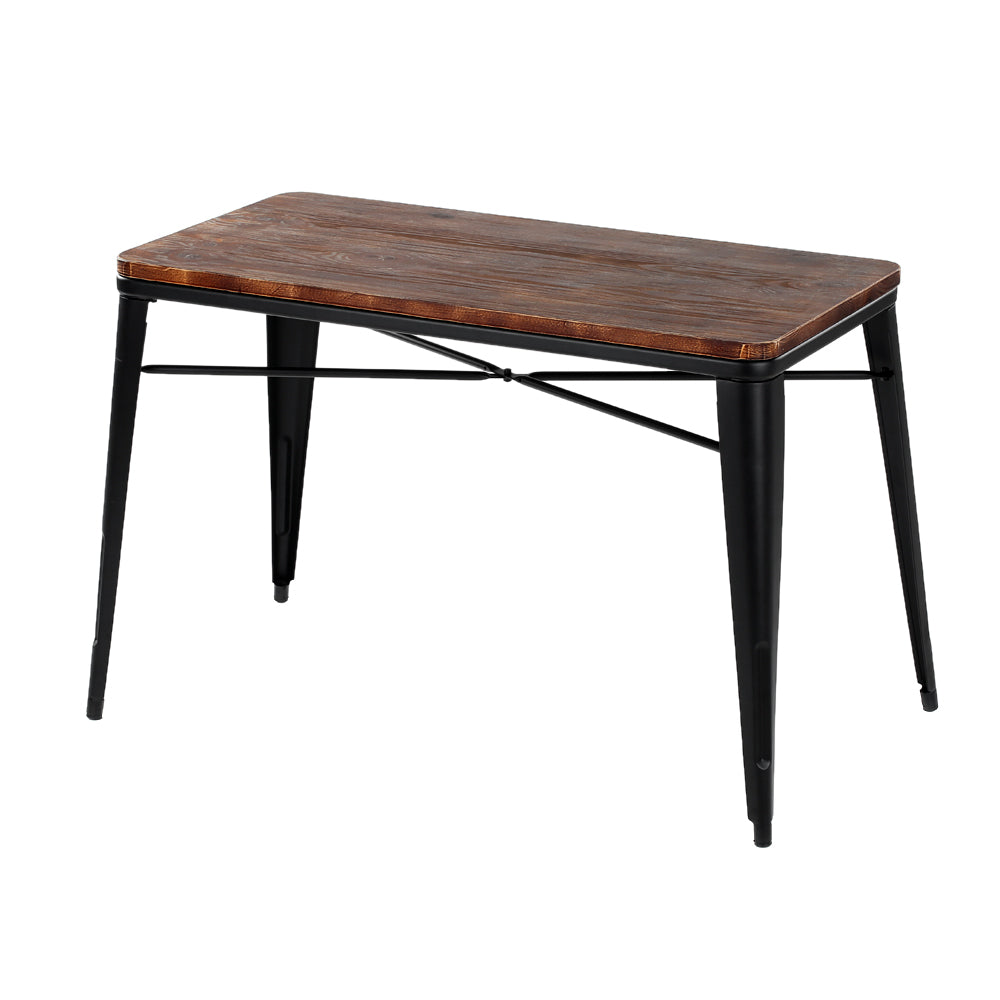 Natural Elements Pinewood Kitchen Dining Table W/ Metal Frame Dinette