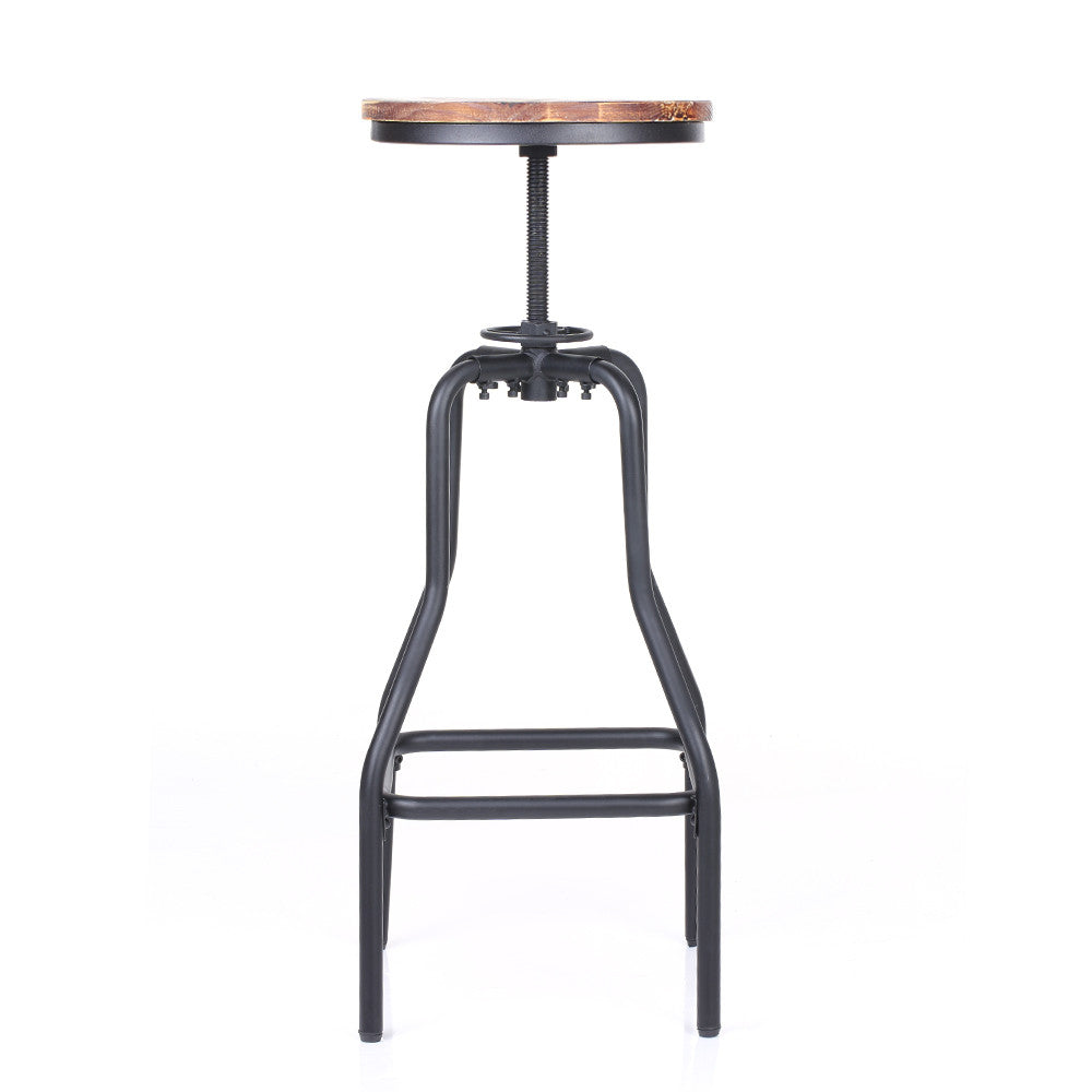 Natural Elements Adjustable Swivel Bar Stool Pinewood Top