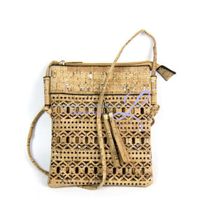 India Natural Cork Handmade Hollow Silver & Gold Rivets Handbag Handbags
