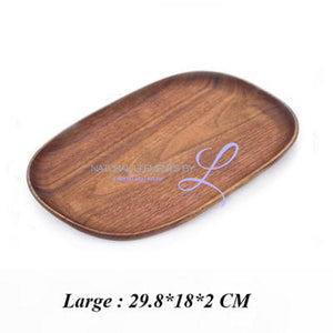 Irregular Creativity Tableware Coffee Wood Plate Serving Tray Large