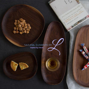 Irregular Creativity Tableware Coffee Wood Plate Serving Tray