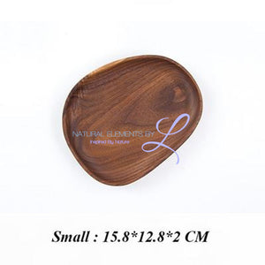 Irregular Creativity Tableware Coffee Wood Plate Serving Tray Small